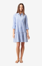 Boomerang - THEA STRIPE DRESS - Deep sea