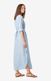Boomerang - BÅSTAD LINEN DRESS - Light indigo