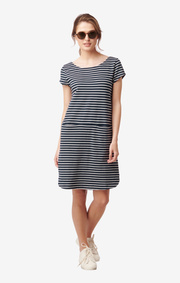 MILLIE STRIPED PIQUE DRESS