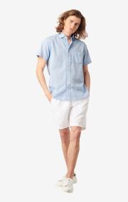 Boomerang - LEIF S.S. SHIRT - Shirt blue