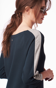 AMANDA SOLID INTERLOCK DRESS