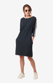 AMANDA SOLID INTERLOCK DRESS