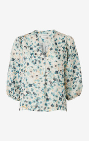 Boomerang - nina printed shirt - Pond green