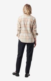 Boomerang - anja checked shirt - Beige