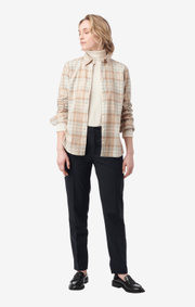 Boomerang - anja checked shirt - Beige