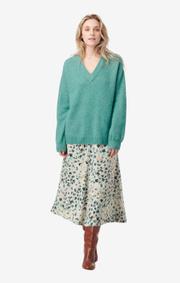 Boomerang - rutan fluff sweater - Pond green