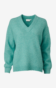 Boomerang - rutan fluff sweater - Pond green