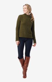 Boomerang - RUNA FLUFF SWEATER - Winter moss
