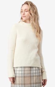 Boomerang - runa fluff sweater - Offwhite