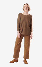Boomerang - planta sweater - Wood brown