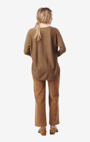 Boomerang - planta sweater - Wood brown