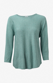 Boomerang - PLANTA SWEATER - Pond green