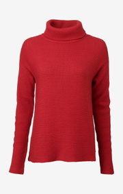 Boomerang - DANIELLA POLO SWEATER - Cadmium red