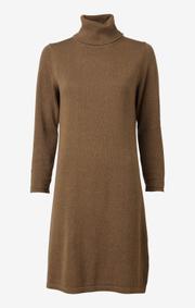 Boomerang - monica polo dress - Wood brown