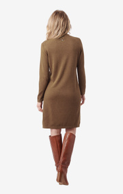 Boomerang - monica polo dress - Wood brown