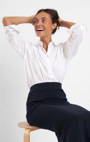 Boomerang - majken interlock skirt - Black
