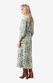 Boomerang - maja printed skirt - Pond green