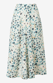 Boomerang - maja printed skirt - Pond green