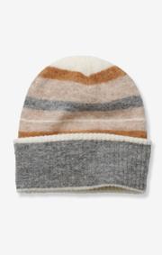 Boomerang - fluff striped cap - Dk grey mela