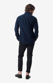 Boomerang - arvid cord shirt cut away - Midnight blue