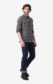 Boomerang - FRANS FLANNEL SHIRT - Midnight blue