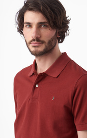 Boomerang - JOE ORGANIC COTTON POLO PIQUÉ - Russet brown
