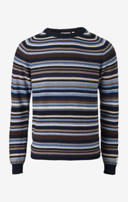 Boomerang - jocke multistripe sweater - Night sky