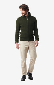Boomerang - bo full zip sweater - Greta green