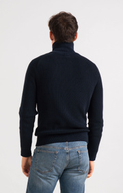Boomerang - BO FULL ZIP SWEATER - Night sky