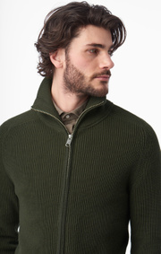 Boomerang - bo full zip sweater - Greta green