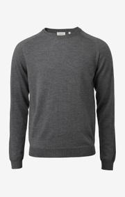 Boomerang - dan merino sweater - Grey melange