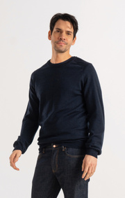 Boomerang - DAN MERINO SWEATER - Midnight blue