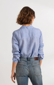 Boomerang - LINA LINEN SHIRT - Cloud blue