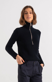 Boomerang - LALJA HALF ZIP SWEATER - Midnight blue