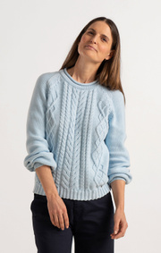 Boomerang - LOPPAN SWEATER - Airy blue