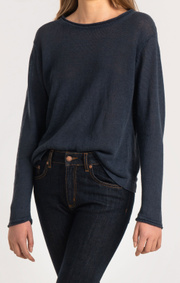 Boomerang - LOLLO LINEN SWEATER - Midnight blue
