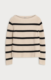 Boomerang - LEONIE ORGANIC COTTON STRIPE SWEATER - Offwhite