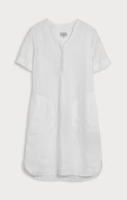 Boomerang - BETTAN LINEN DRESS - White