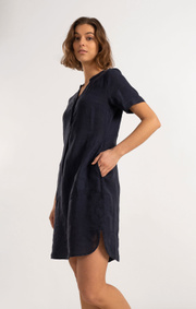 Boomerang - BETTAN LINEN DRESS - Night sky