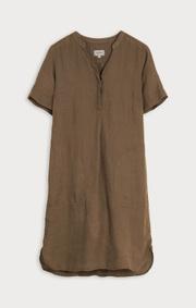 Boomerang - BETTAN LINEN DRESS - Taupe solid
