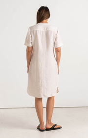 Boomerang - BETTAN LINEN DRESS - White