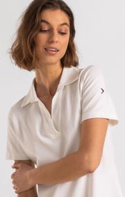 Boomerang - HANNA PIQUET DRESS - White