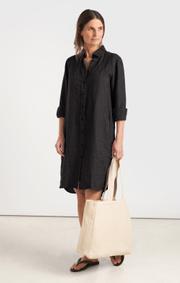 Boomerang - BEA LINNEN DRESS - Black