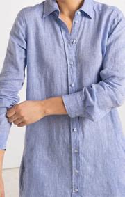 Boomerang - BEA LINEN DRESS - Cloud blue