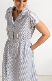 Boomerang - PIPPI POPLIN DRESS - Blue depth