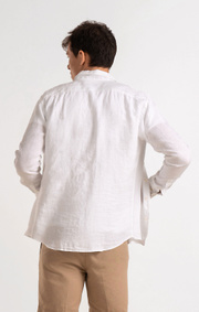 Boomerang - LINUS LINEN SHIRT - White