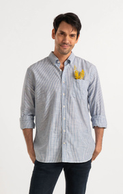 Boomerang - WILMER STRIPE SHIRT - Blue nile