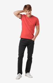 Boomerang - Oscar overdyed 5-pocket pants - Charcoal