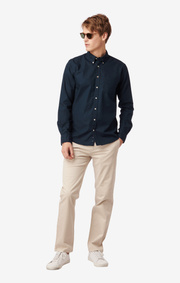 Boomerang - Shirt organic oxford tailored fit - Blackish navy