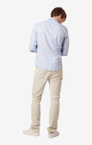 SHIRT ORGANIC STRIPED OXFORD TRIM FIT